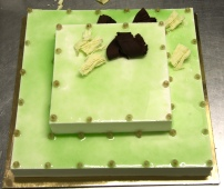 Torta gelato nuziale alla crema con glassa di kiwi emiliani – Wedding cake made with Crema gelato and kiwi glaze